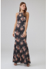 Print y26 knitted sleeveless maxi dress