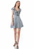 Silver velvet 13 sleeveless mini dress