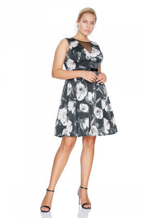 Print e85 plus size dress