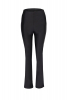 Black leather maxi trousers
