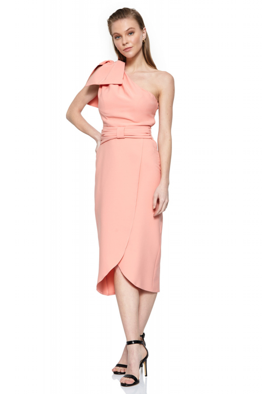 crepe sleeveless midi dress