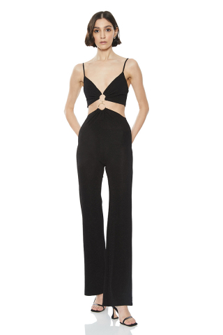 Black sleeveless overall