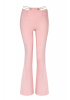 Light pink crepe trousers