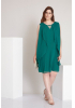 Green plus size chiffon sleeveless mini dress