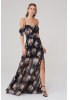 Printy22 chiffon short sleeve maxi dress